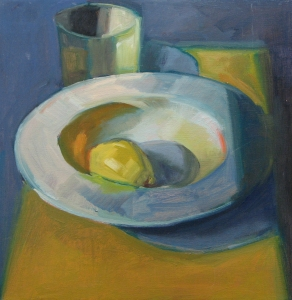 Lemon in White Bowl